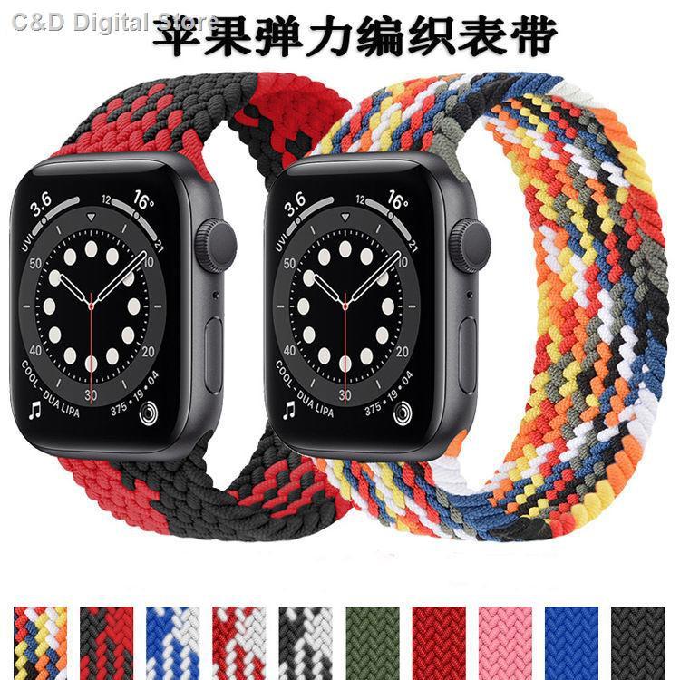 【อุปกรณ์เสริมของ applewatch】✲✗☈ใช้ได้กับ Apple iwatch ทอสายไนล่อนแบบห่วงเดียว applewatch ยืดหยุ่น 2/3/4/5 / 6SE ชายแล