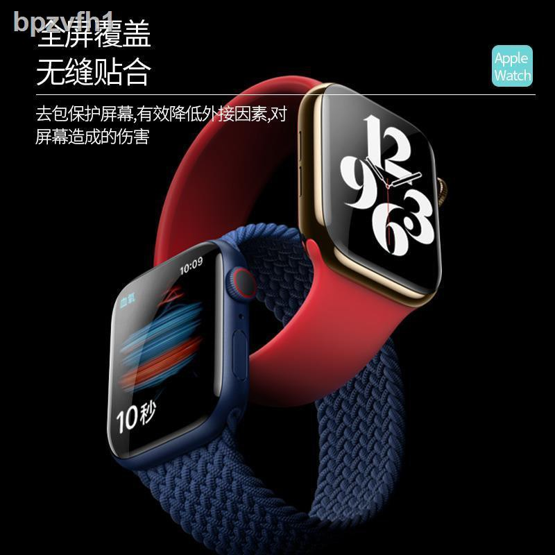 ☈✐เหมาะสำหรับ Apple Watch รุ่นที่ 6 ฟิล์มกันรอย AppleWatch Series แบบเต็มหน้าจอนิรภัยแบบไฮโดรเจล HD se
