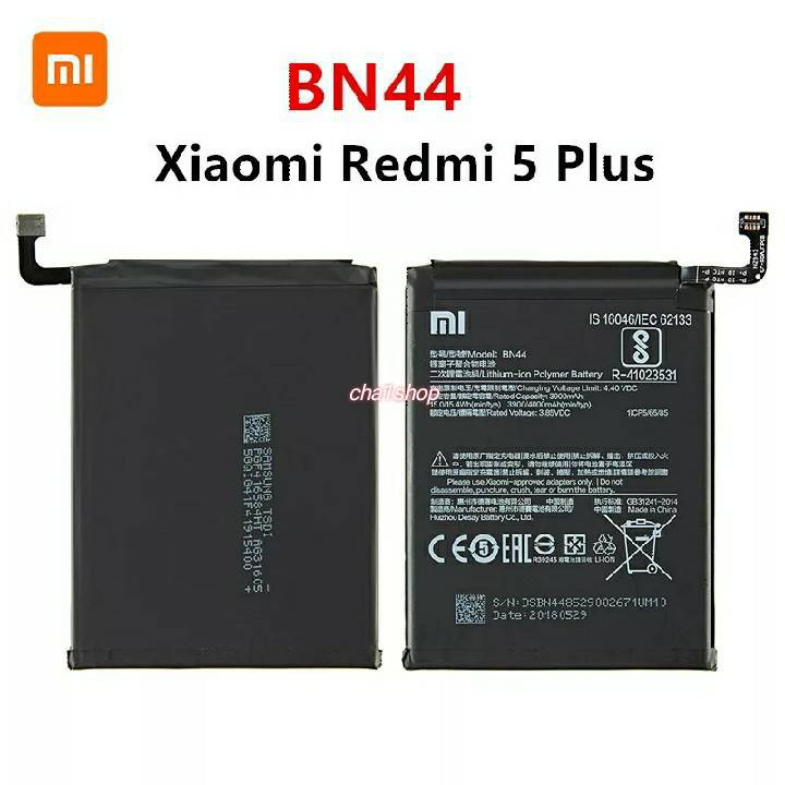 BN44 Mobile Phone Battery For Xiaomi Redmi 5 Plus Real Capacity 4000mAh Replacement Li-ion Battery + Tool