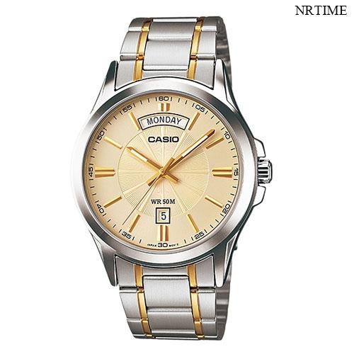 NRTIME Casio Standard นาฬิกาข้อมือผู้ชาย สายสแตนเลส รุ่น MTP-1381G-9AVDF, MTP-1381G-9A, DDnH