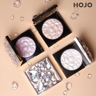 Makeup HOJO Diamond High-gloss Pressed Powder, exquisite, non-flying powder, color rendering, three-dimensional, brighte