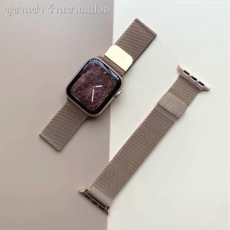 ஐ✹สายเปลี่ยนนาฬิกาข้อมือ AppleWatch Band Milanese Loop Series 1 2 3 4 5 6 44 มม 40 มม 38 มม 42 มม สาย applewatch 6 se 4.