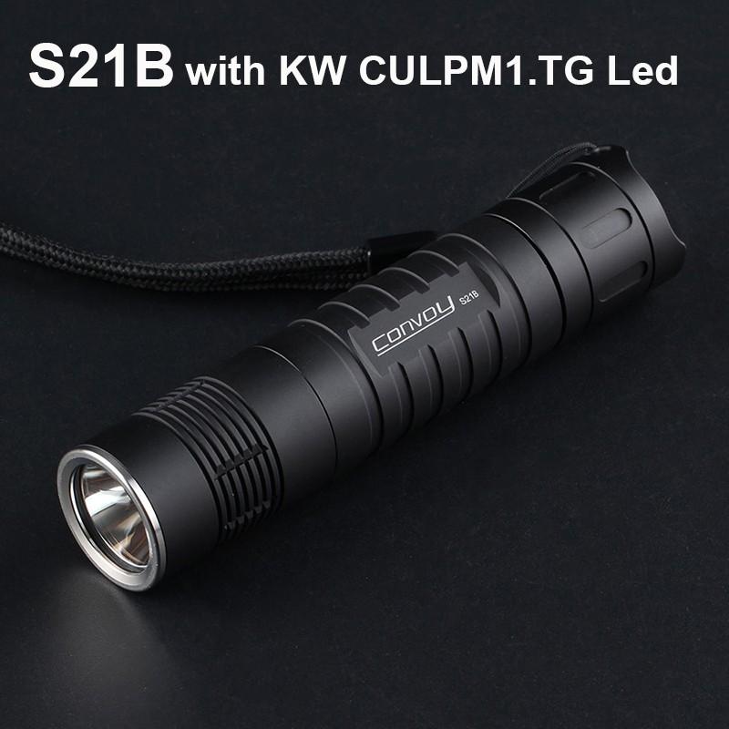 Convoy S21B with KW CULPM1.TG Led Flashlight 6500K Torch Flash Light 21700 Lanterna Camping Hiking Police Linterna Led L