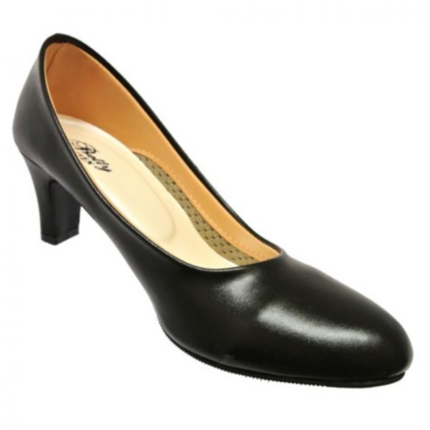 Ruay Tang รองเท้าแฟชั่นคัชชูส้นสูงผู้หญิง สีดำ