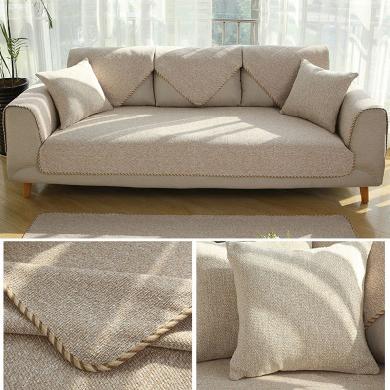 Solid Color Sofa Cushion Cover