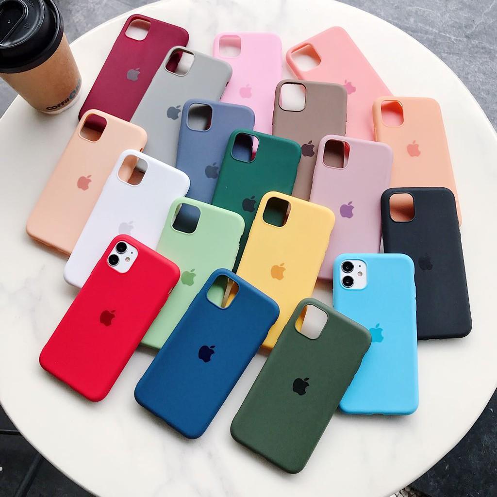 เคสเคสโทรศัพท์มือถือ สีพื้น เเฟชั่น สําหรับ Iphone 11 Max Pro 7 8 Apple 7 P Plus Xsmax Xr Xs 6s I 5 5se