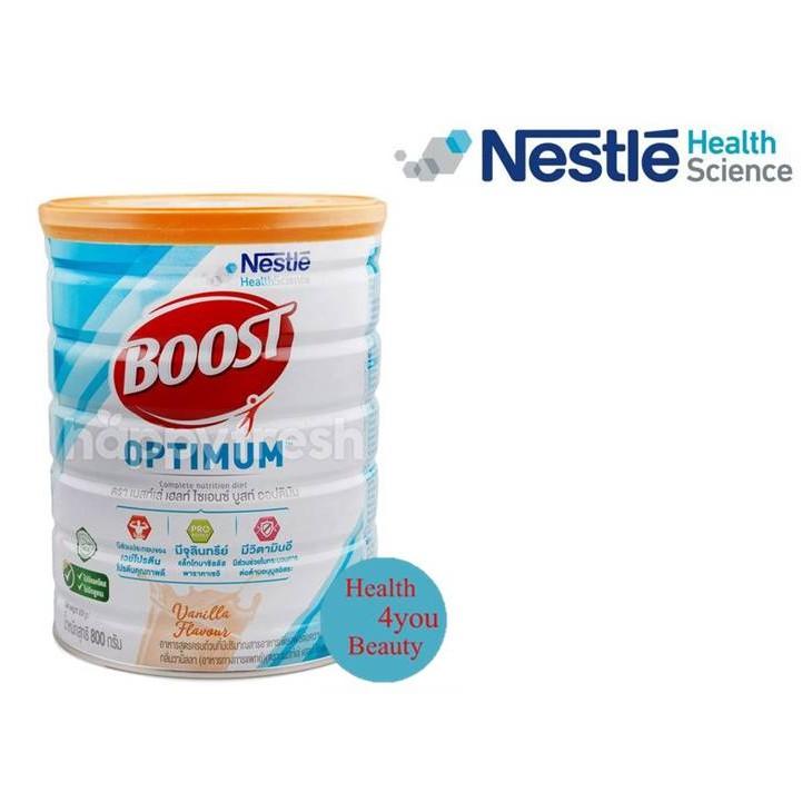 Boost Optimum บูสท์ ออปติมัม อาหารเสริมทางการแพทย์ มีเวย์โปรตีน อาหารสำหรับผู้สูงอายุ ขนาด 400g / 800g