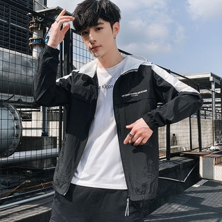 Korean Style Jacket Sun Protection Clothing Handsome2020New Breathable Casual Men's Clothing Fashion Spring and Autumn T