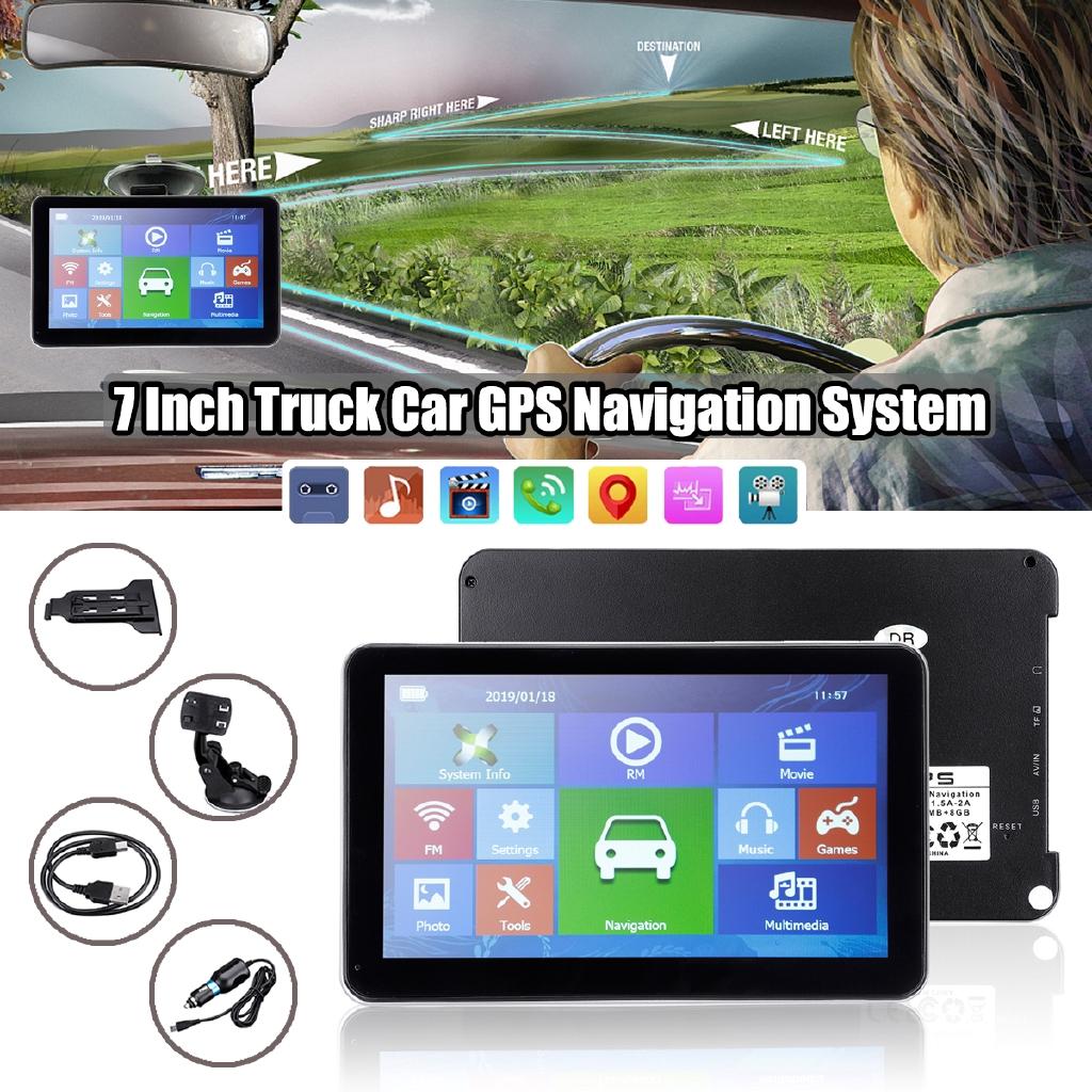 7/'/' Car Truck GPS Navigation+Wireless Rearview Camera Bluetooth 8GB US Map