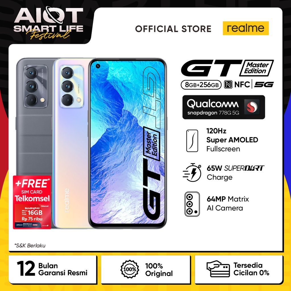 HP realme GT Master Edition [SD 778G 5G Processor, 120Hz Super AMOLED Display, 65W SuperDart Charge]