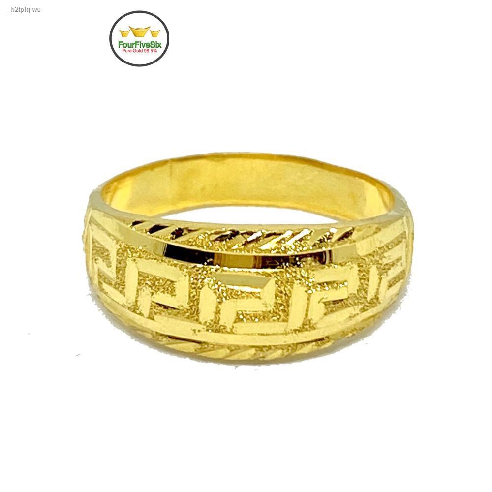 ราคาต่ำสุดↂFlash Sale แหวนทองครึ่งสลึง รวยวนไป V.2 หนัก 1.9 กรัม ทองคำแท้96.5%