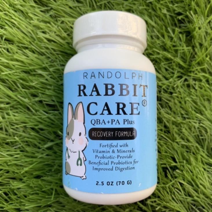 Randolph Rabbit Care สูตร 3 Qba+pa Plus (สีฟ้า) อาหารกระต่ายป่วยหรือต้องการบำรุงเป็นพิเศษ ขนาด70 G.