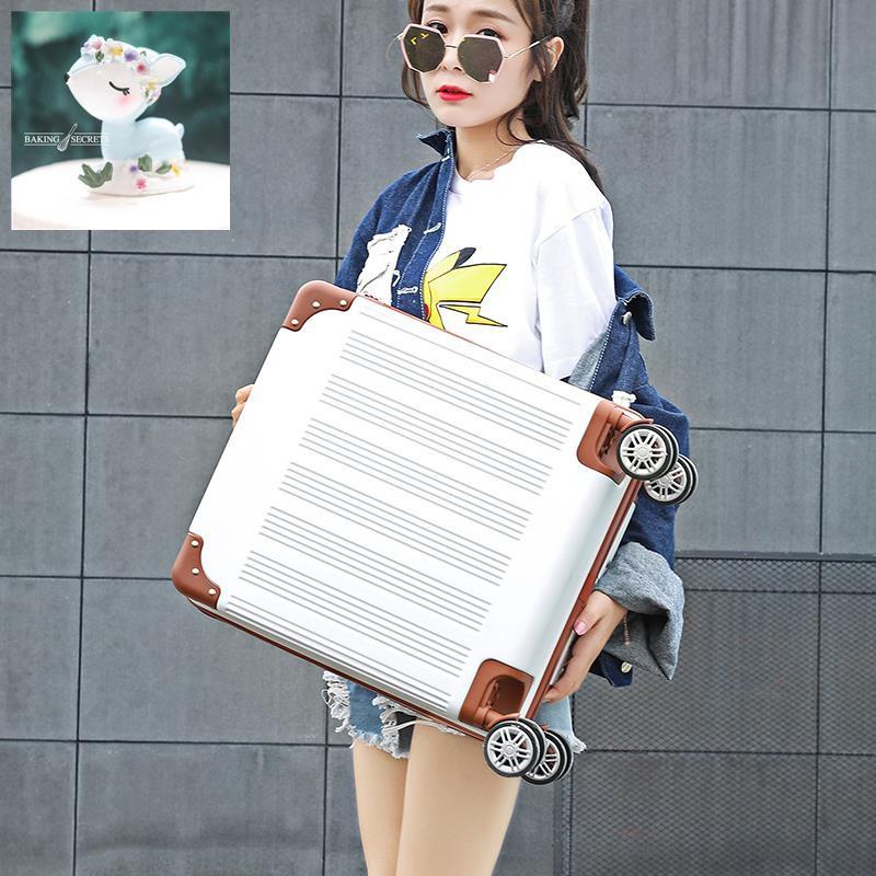 กระเป๋าเดินทางขนาดเล็ก, กระเป๋าเดินทางขนาดเล็กและน้ำหนักเบา, กระเป๋าเดินทางรหัสผ่านหญิง 18 ใบ, รุ่นเกาหลีขนาด 19 นิ้วขน
