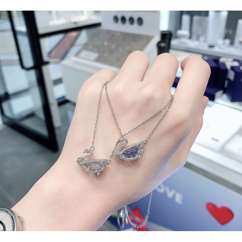 สร้อย 【SALE】🔥พร้อมส่ง🔥Swarovskiแท้ สร้อย swarovski ของแท้ ของแท้ 100% สร้อยคอจี้หงส์ swarovski necklace แท้ Swarovski