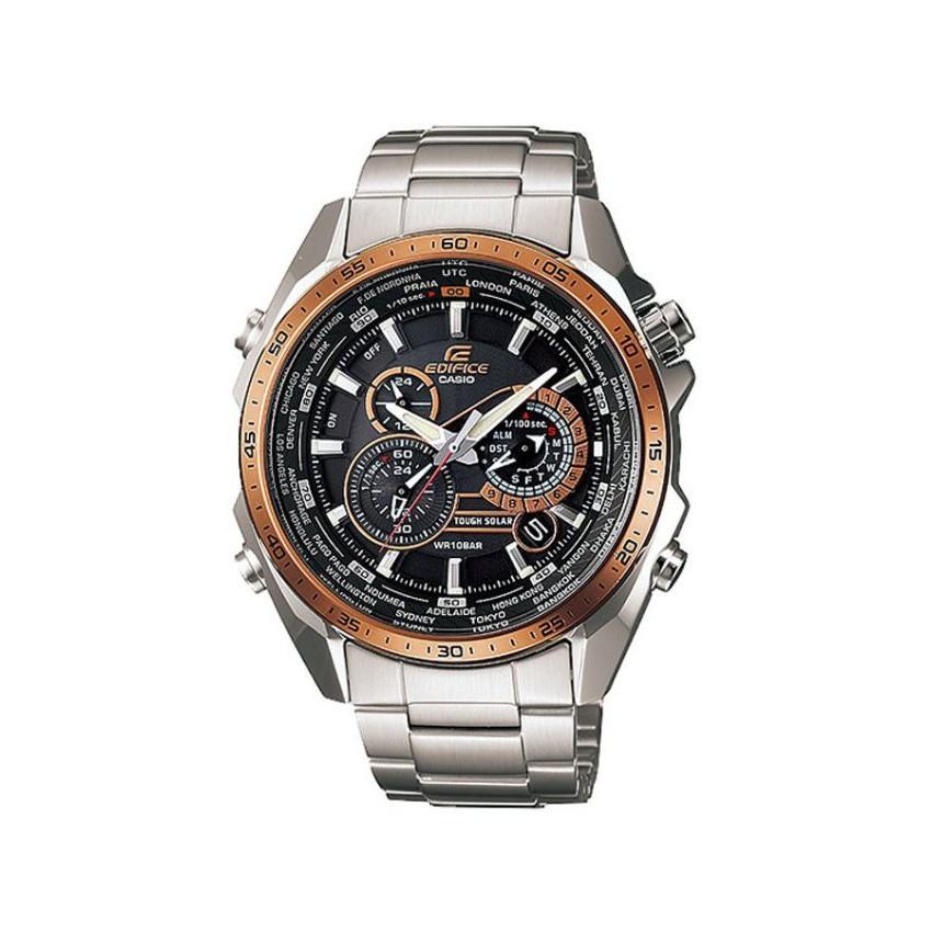 Casio Edifice Chronograph นาฬิกาข้อมือ สายสแตนเลส รุ่น EQS-500DB-1A2 - สีเงิน
