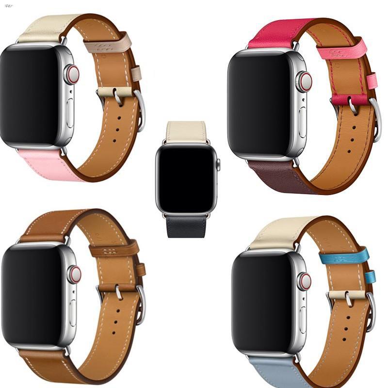 สาย applewatch Apple Watch สายหนัง 44mm 42 มม. 40 38 มม.series 5 4 3 2 1