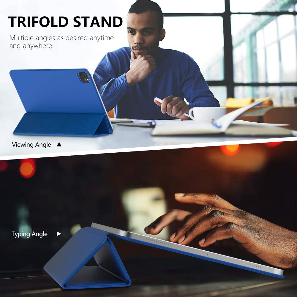 MoKo Magnetic Smart Folio Case Fit iPad Pro 11 2020 2nd Generation [Support Apple Pencil 2 Charging]
