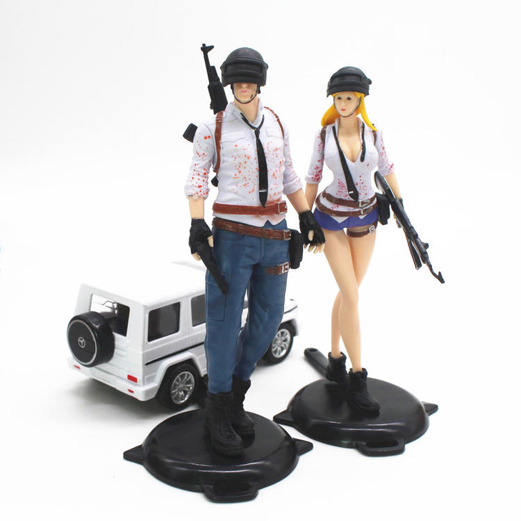 4pcs Game PUBG Action Figure 18cm Doll Level 3 Helmet Saucepan Model Toy Gift