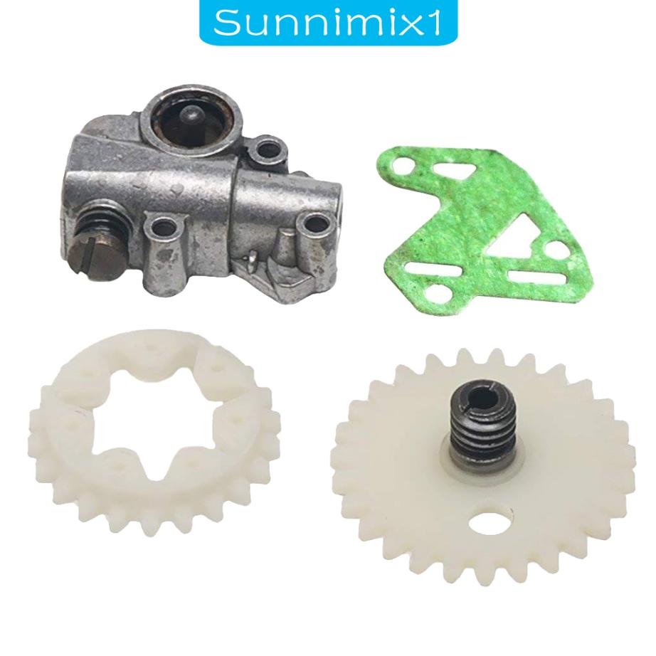 [Sunnimix1] ชุดเกียร์ล้อปั๊มน้ํามันสําหรับ Stihl Ms028 038 048 380 381