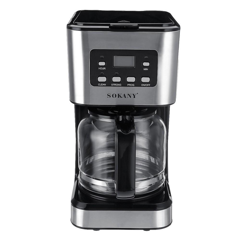 CAF อุปกรณ์ชงกาแฟ Sokany121E เครื่องชงกาแฟบ้านอัตโนมัติอเมริกันเครื่องชงกาแฟแบบหยดสำหรับการทำชา ที่ชงกาแฟ