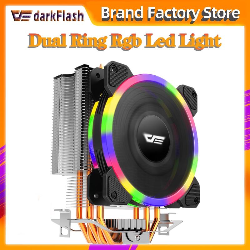 Please COD   Aigo darkflash L5 CPU cooler Cooling TDP 280W 5 heatpipes 4p PWM LED 120mm fan Radiator heatsink /115X/775/
