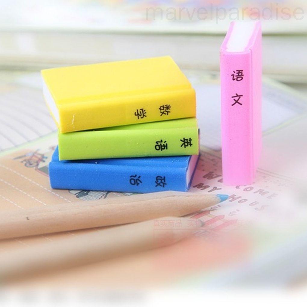 4pcs Cute Books Shaped Style Erasers Japanese Erasers Creative Book Erasers marvelparadise