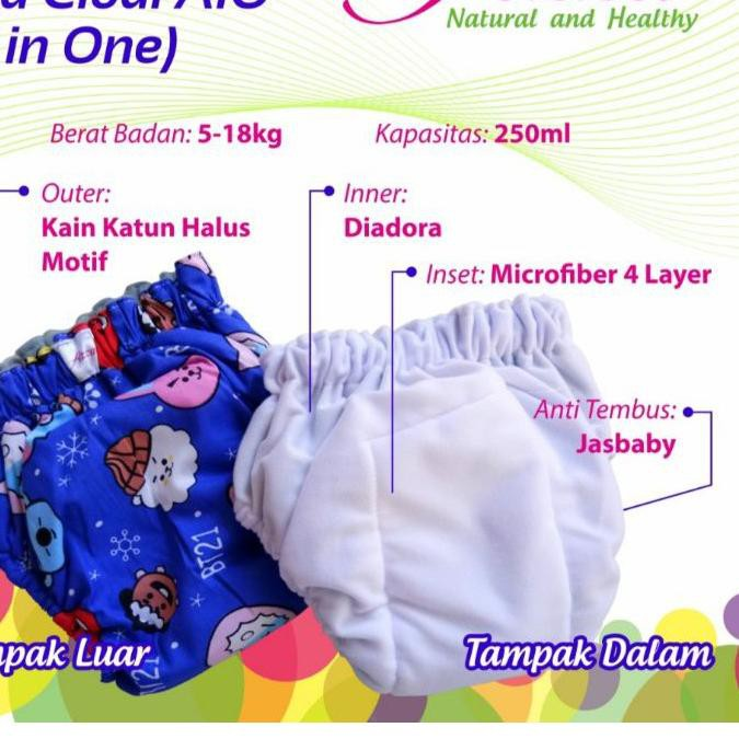 กางเกงผ้าอ้อม 12.12 Clodi Azza Aio 5-18 กิโลกรัม