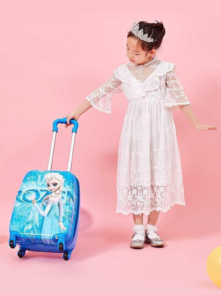 ღ☪กระเป๋าเดินทางเด็ก  กระเป๋ารถเข็นเดินทางกระเป๋าเด็กผู้หญิงรถเข็นกระเป๋าเดินทางเด็กนักเรียนกระเป๋าเดินทางการ์ตูนน่ารักเ