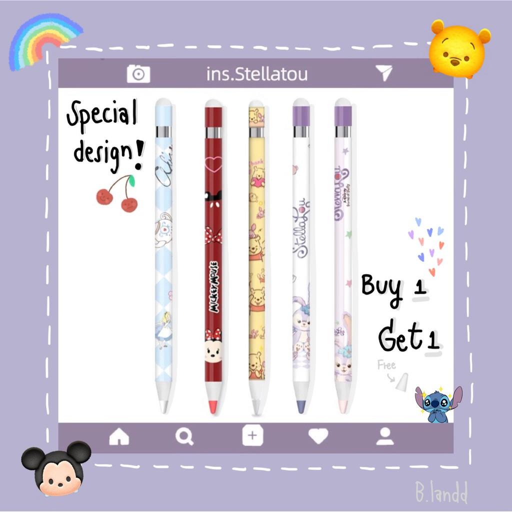 [พร้อมส่ง] ฟิล์มปากกา apple pencil sticker เซทดิสนีย์ ✨ ซื้อ 1 ชิ้น แถม จุกปากกาซิลิโคน 1 ชิ้น ฟรี! xEtB