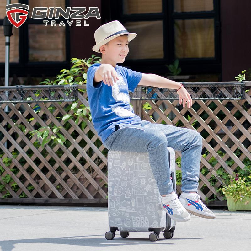 ☠☄กระเป๋าเดินทางเด็กกระเป๋าเดินทางล้อลากกระเป๋าเดินทางClearance Ginza DORAEMONการ์ตูนเด็กกรณีรถเข็น18นิ้วกระเป๋าเดินทางข