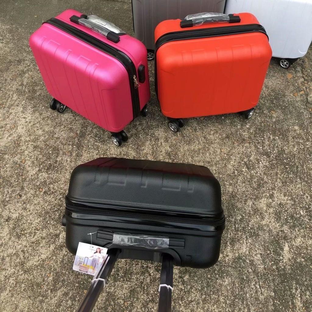 กระเป๋าเดินทางล้อลากขนาดเล็ก 14 นิ้ว 16 นิ้ว 18 นิ้วสําหรับผู้ชายและผู้หญิง