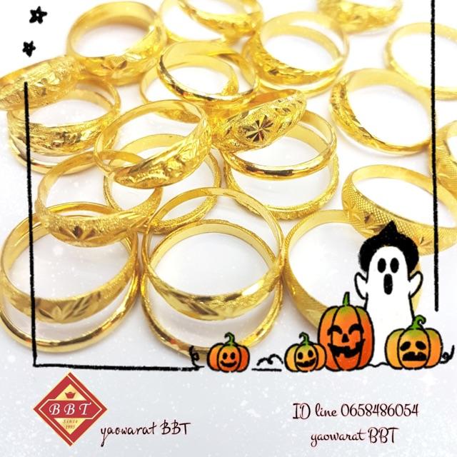 แหวน 1 กรัม ทอง 96.5% ไซส์ 54 ราคา 2,399- มีใบรับประกันให้ทุกชิ้น