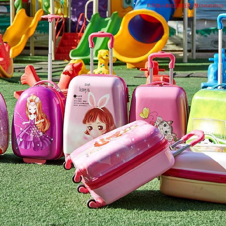 ﹍⊕♛เด็ก การ์ตูนผู้หญิง ขึ้นเครื่อง รถเข็นขนาดเล็ก กระเป๋าเดินทางของเล่นเด็ก กระเป๋าเดินทางมินิเจ้าหญิง เด็กผู้ชาย