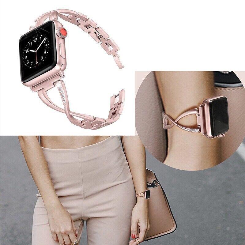 สาย Apple Watch Strap 38/40 มม. 42/44 Ladies delicate strap มมสำหรับ apple watch Series 6/5/4/3/2/1