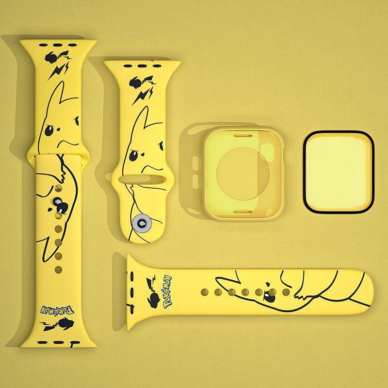 ☫∋[อุปกรณ์สำหรับนาฬิกา]  สาย Applewatch Applewatch6 / SE สายการ์ตูน iwatch5 4/3/2 รุ่นเครื่องเล่นแฟชั่นส่วนบุคคล