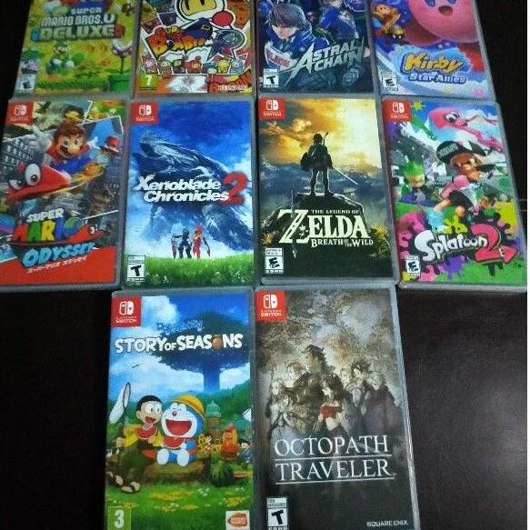 แผ่นเกมส์ NintendoSwitch มือสอง Kirby,Zelda,Mario,Octopath,Splatoon2,Xenoblaed,AstralChain,Doraemon,