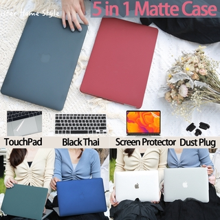 『5 in 1』เคส Macbook Case matte for เคส Macbook Air Case 13 2020 A2179 A1932 เคส Macbook Pro Case 13.3 inch A2289 A2251 with keyboard cover dust plug screen protector Touchpad macbook air 2020 case macbook pro 2020 case16
