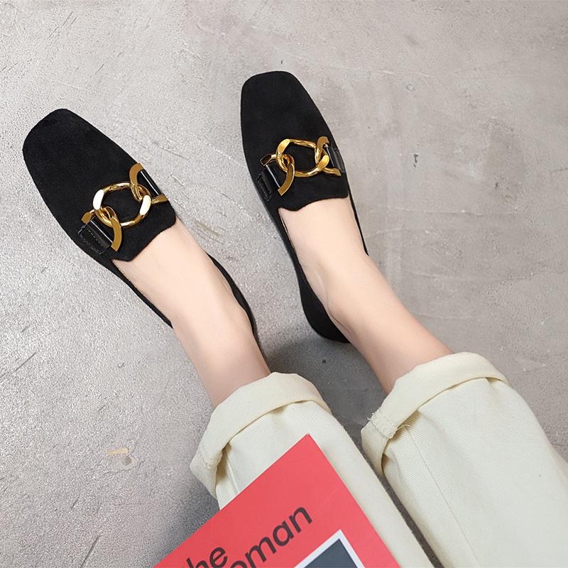 ส้นแบนหัวแหลม รองเท้าผู้หญิง รองเท้าทำงานผู้หญิง คัชชูหัวตัด