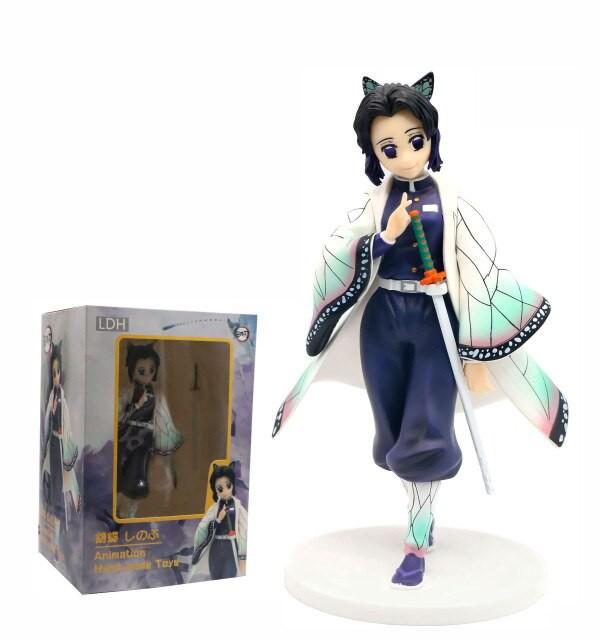 ของเล่นตัวการ์ตูน:Anime Agatsuma Kochou Shinobu Demon Slayer Kimetsu No Yaiba VC Action Figure Toy GK Statue Collectible