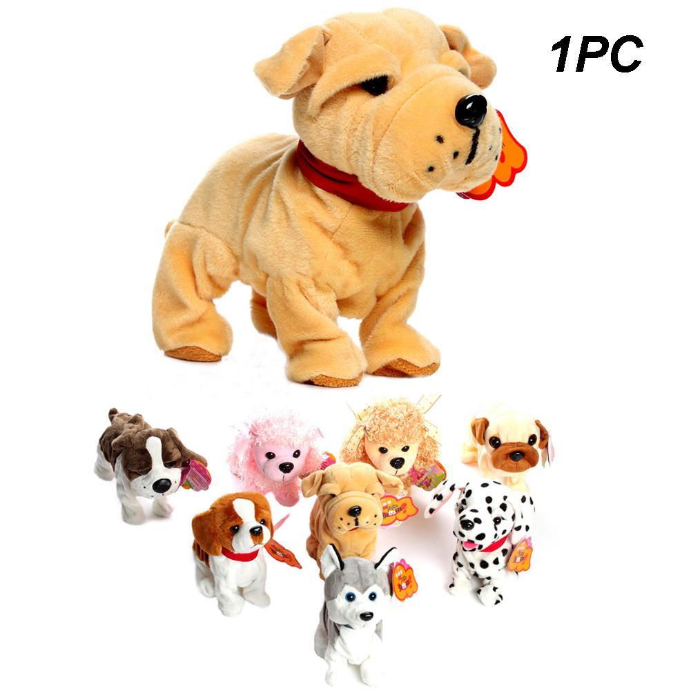 Electronic Pet Dog Toy Battery Operated Sounding Barking Dog Plush Walking Toy
