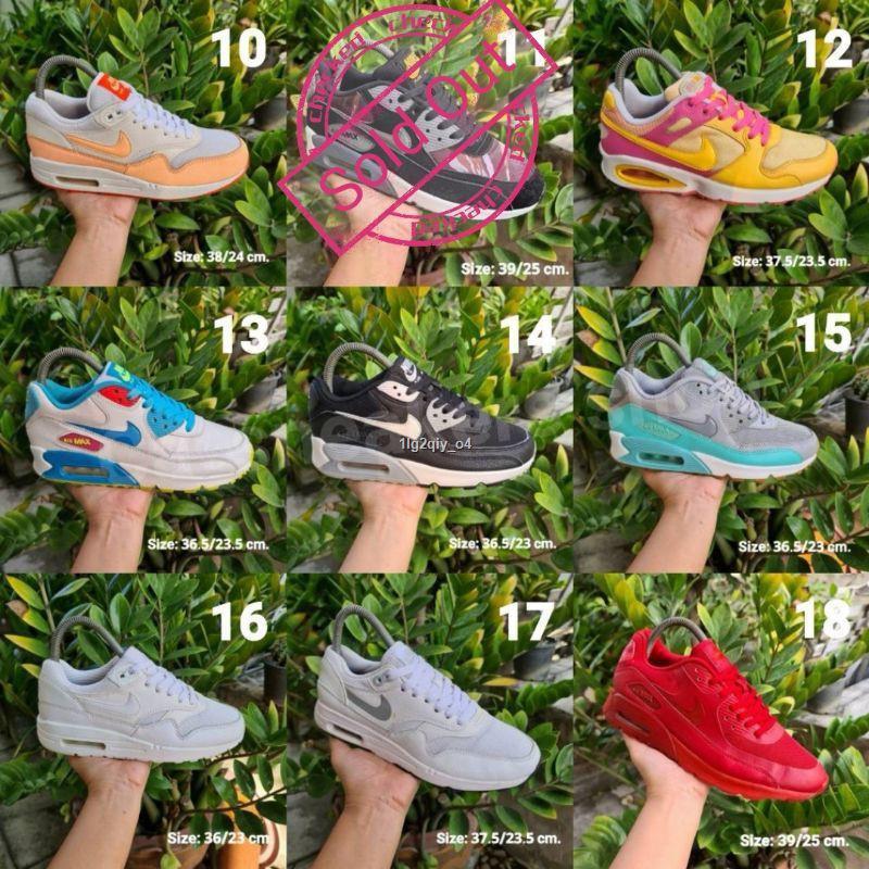 ถูกที่สุด■รองเท้ามือสองของแท้/Airmax90/Airmaxone/รองเท้าลำลอง/รองเท้าวิ่ง/แอร์แม๊ก/