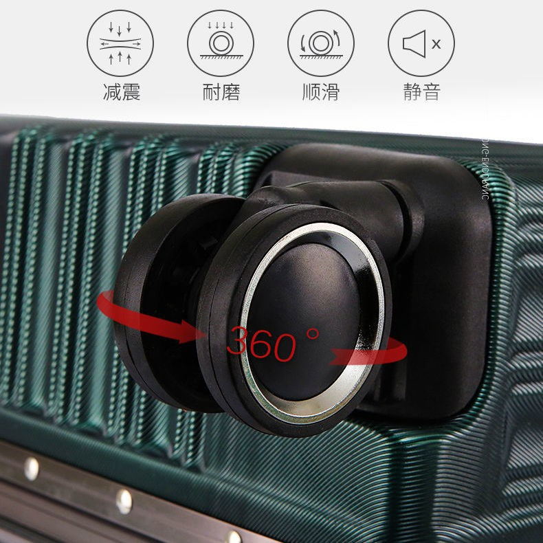 ▣∏> กระเป๋าเดินทางความจุขนาดใหญ่เวอร์ชั่นเกาหลีของลำต้นอลูมิเนียมกรอบกล่องรถเข็นสากลล้อ 24 กล่องเข้ารหัสที่แข็งแกร่งทนทา