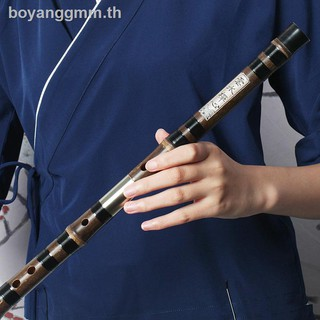 ✘Singing-Special-grade professional playing purple bamboo flute early study F-tone high-grade copper cross delivery bag