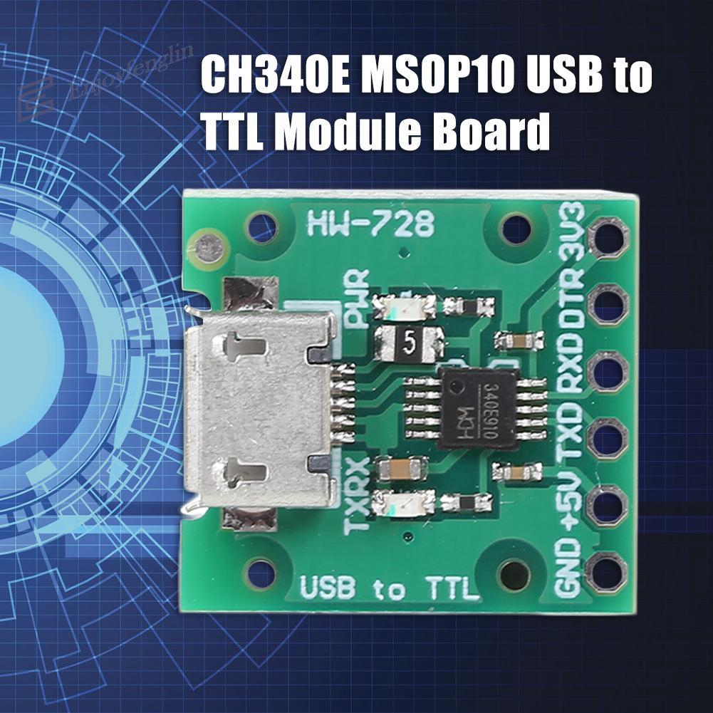 CH340E MSOP10 USB to TTL Module Board Can be Used as PRO Mini Downloader  SL#