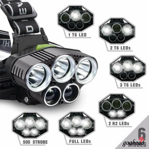 8000 lumen XM-L T6 LED Headlamp Front Head Torch Bike Headlight Bicycle Light