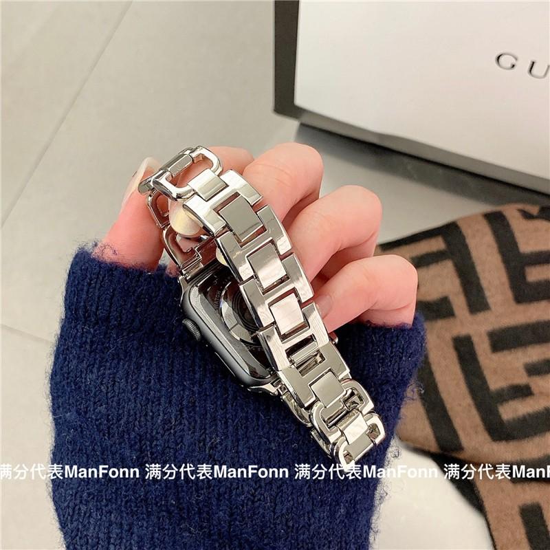 เคสนาฬิกา applewatchบังคับiwatch5/6สาย AppleSEนาฬิกาapplewatch34รุ่น2โซ่โลหะกลิ่นหอมขนาดเล็กapplewatch