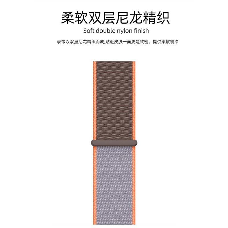 สายนาฬิกา# สายนาฬิกาข้อมือ สำหรับ AppleWatch 42 มม. 38 มม. 40 มม. 44 มม. series 6  5 4 3 2 1สายผ้า