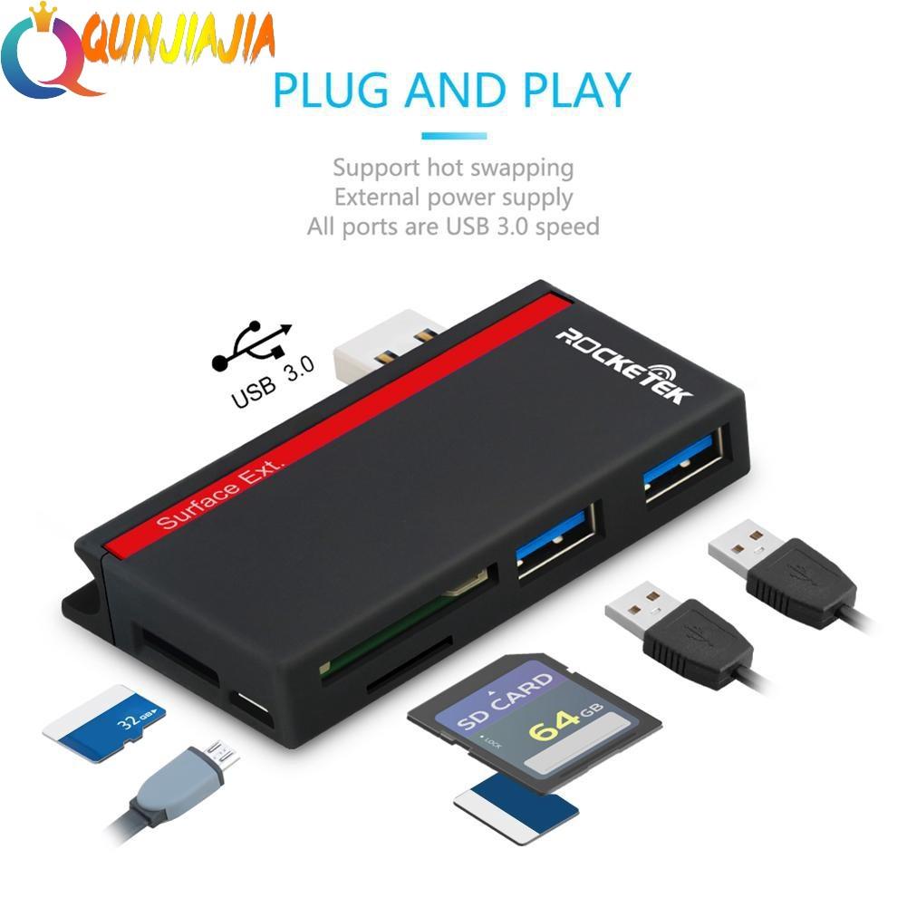 USB Hub 3//6 4Port USB 3.0 2.0 Splitter  Expander Card Reader For PC Super Speed