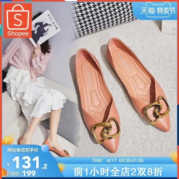 รองเท้าคัชชู ใส่สบาย สำหรับผู้หญิง รุ่นสีเรียบใส่ทำงาน 卡芙口单女女底底 2021 รองเท้าใหม่, เด็ก, ส้นเตี้ย, มีกลิ่นหอม, นุ่ม, รองเ