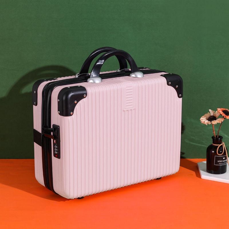 🚀ความเร็วในการจัดส่ง🚀♧♈☜ส่งฟรี Retro กระเป๋าเดินทางขนาดเล็กหญิง 14 นิ้วกระเป๋าเครื่องสำอาง 16 นิ้วแบบพกพาขนาดเล็กกระเป1